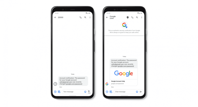 Google's Verified SMS feature will curb spam in Android Messages