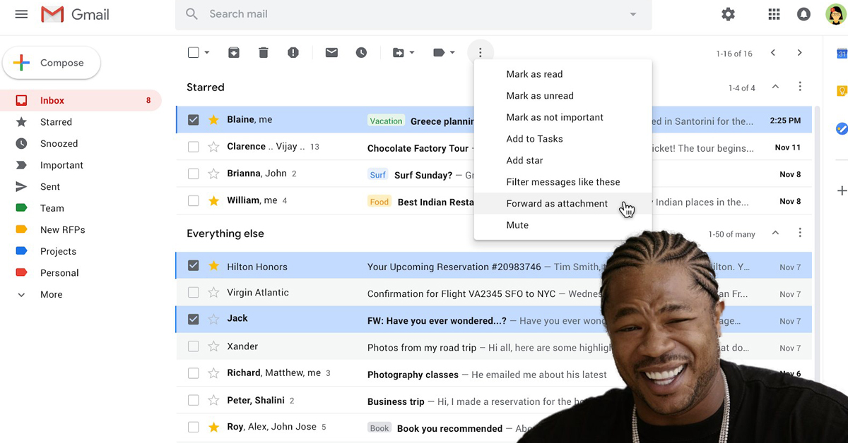Gmail now lets you send emails within emails