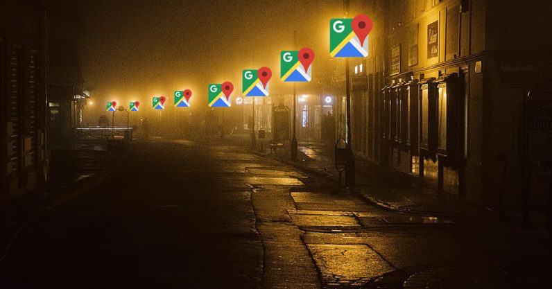google, maps, street, feature, lighting