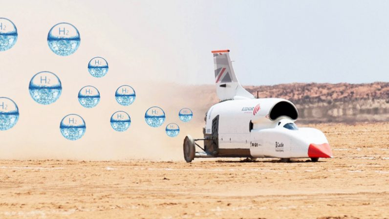 Engineers bet on hydrogen-fueled zero emission rocket to break land speed record