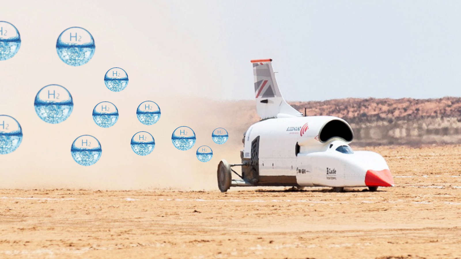 Land speed record vehicle looks to hydrogen-powered zero emmission rocket for 1,000MPH attempt