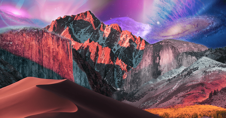 This genius combined every macOS 10 wallpaper into a psychedelic masterpiece