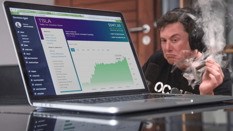 Tesla posts first annual profit — still loses $862M