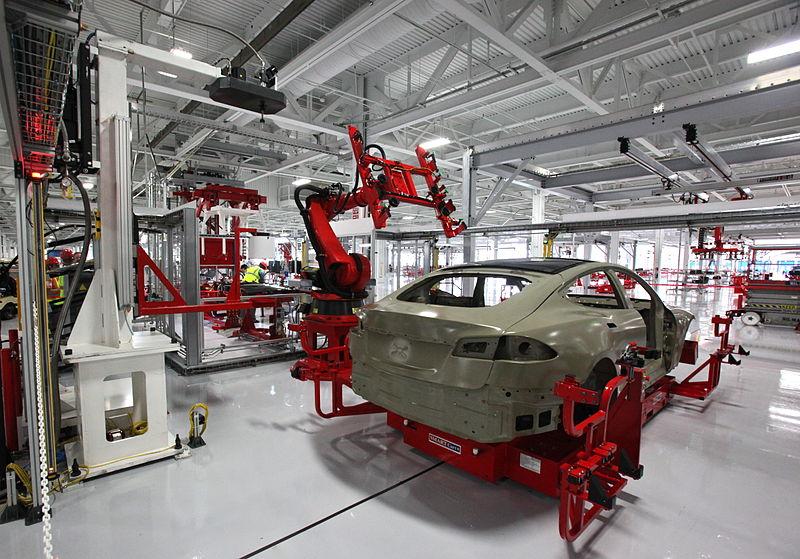 Tesla, robots, manufacturing