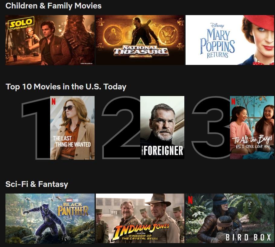 Netflix Top Ten Movies Desktop