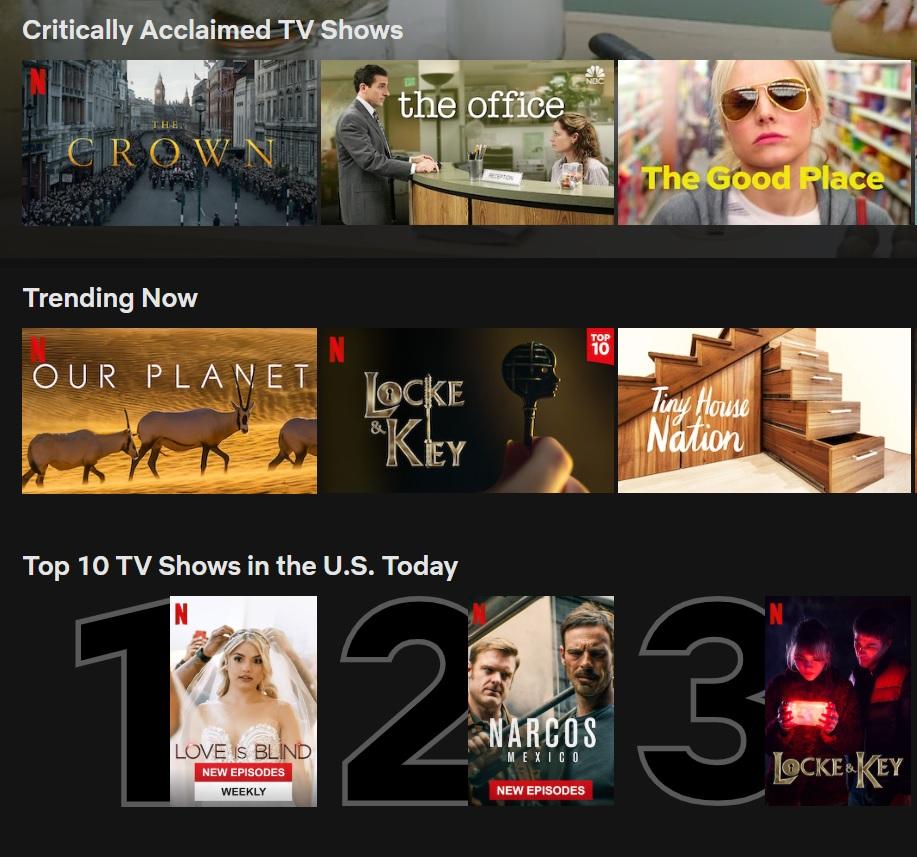 Netflix Top Ten TV Shows Desktop