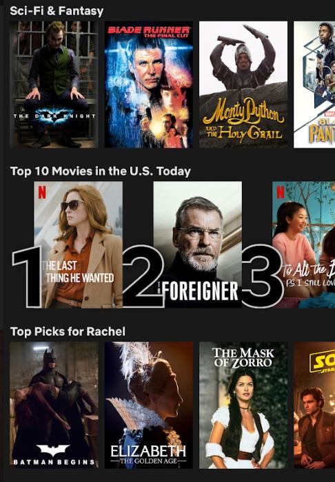 Netflix Top Ten Movies Mobile