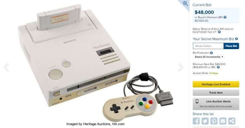 Nintendo Play Station auction page