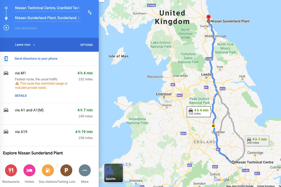 Maps, google, route, nissan, leaf, autonomous driving