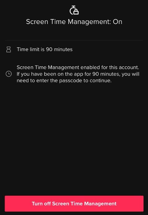 TikTok Screen Time Management On