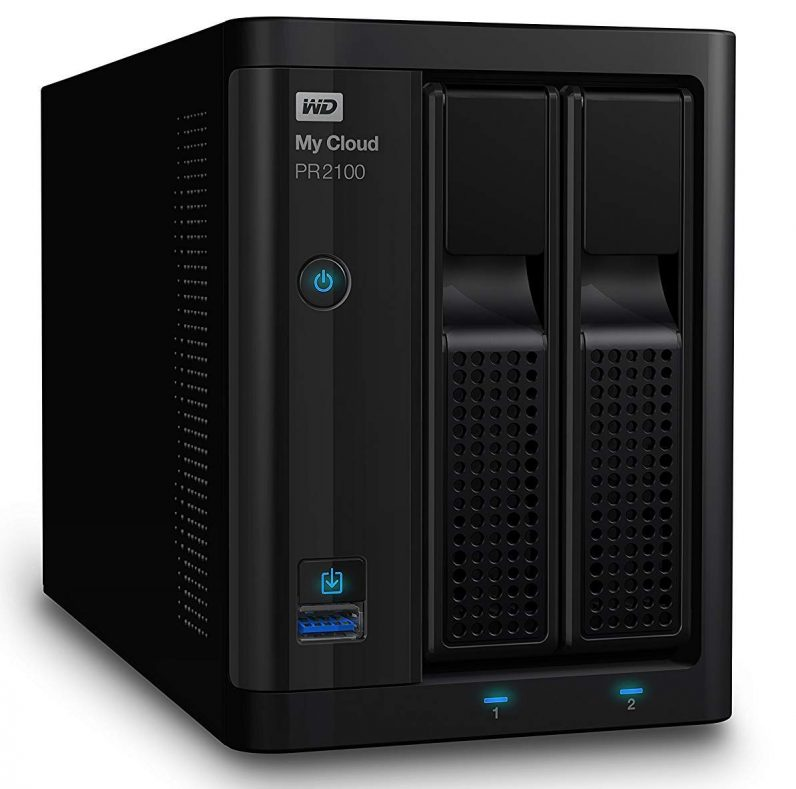 WD PR2100 NAS drive side angle front