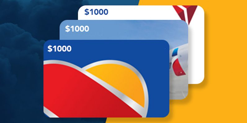Here's your shot at winning $1,000 credit to the airline of your choice - the next web