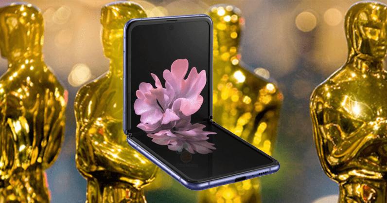 Samsung's Galaxy Z Flip phone Oscars advert had some weird small print