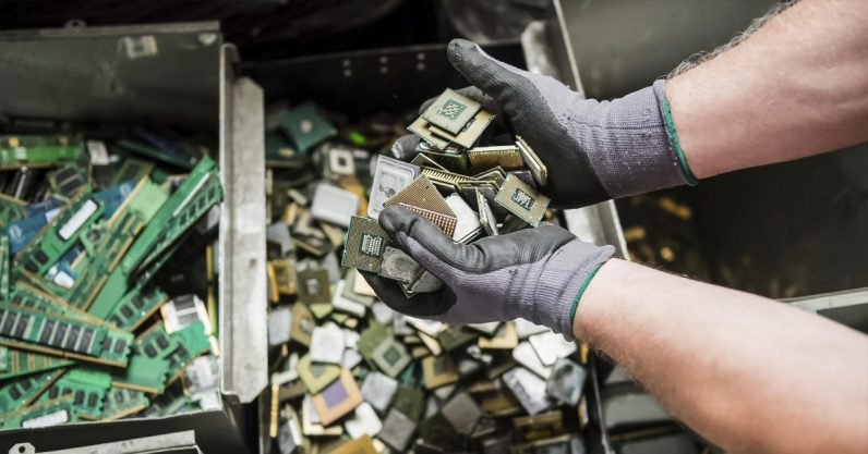 Scientists are working on new ways to recycle chemicals from electronic waste