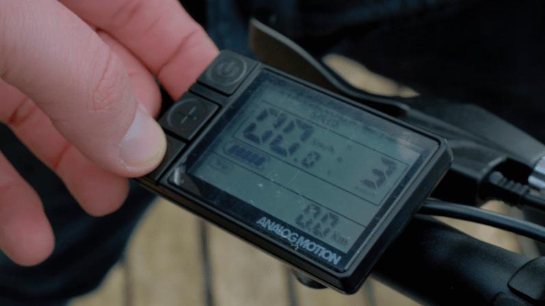Analog Motion AM1 e-bike LCD screen computer control
