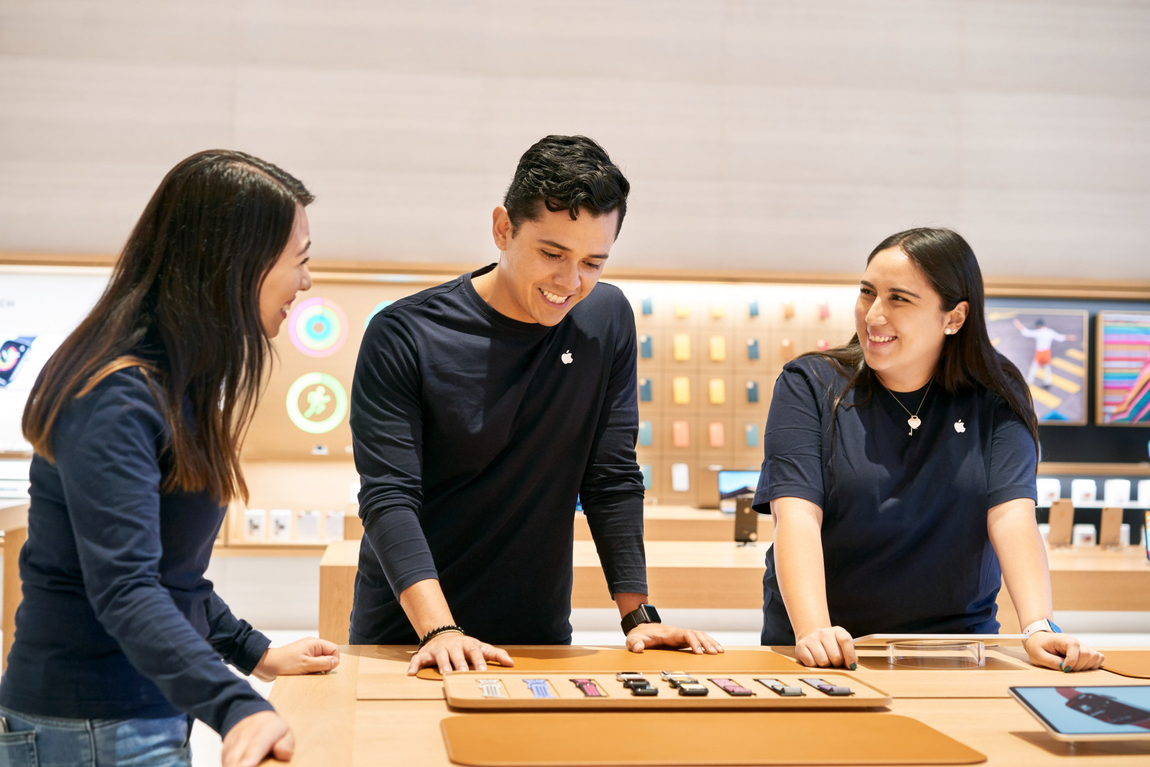 Apple Store employees at its outlet in Antara, Mexico
