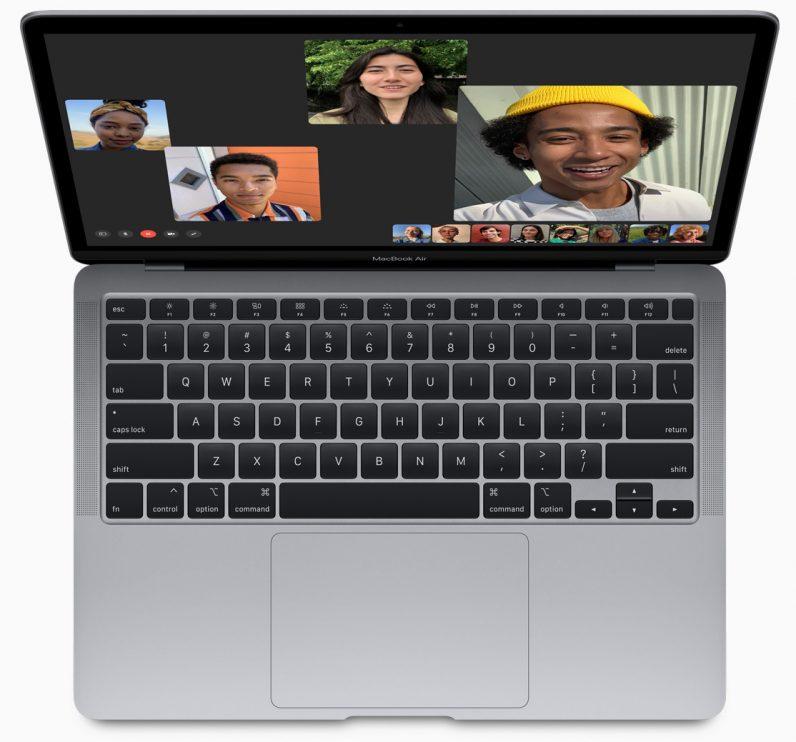 Apple's new MacBook Air keyboard view