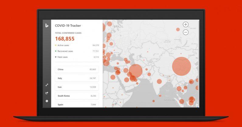 Microsoft launches a coronavirus tracker dashboard on Bing