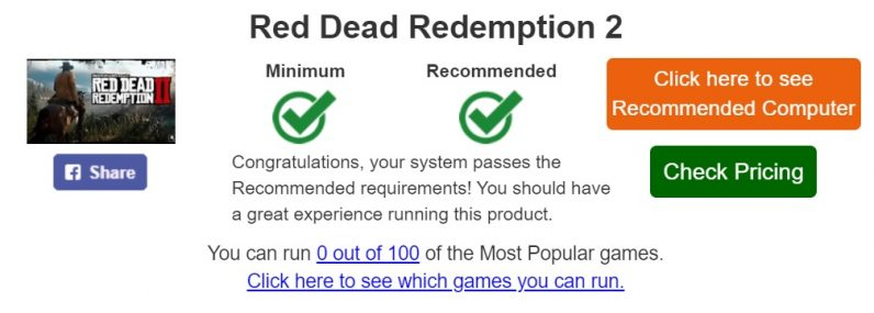 System Requirements Lab Run RDR2