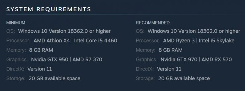Steam System Requirements