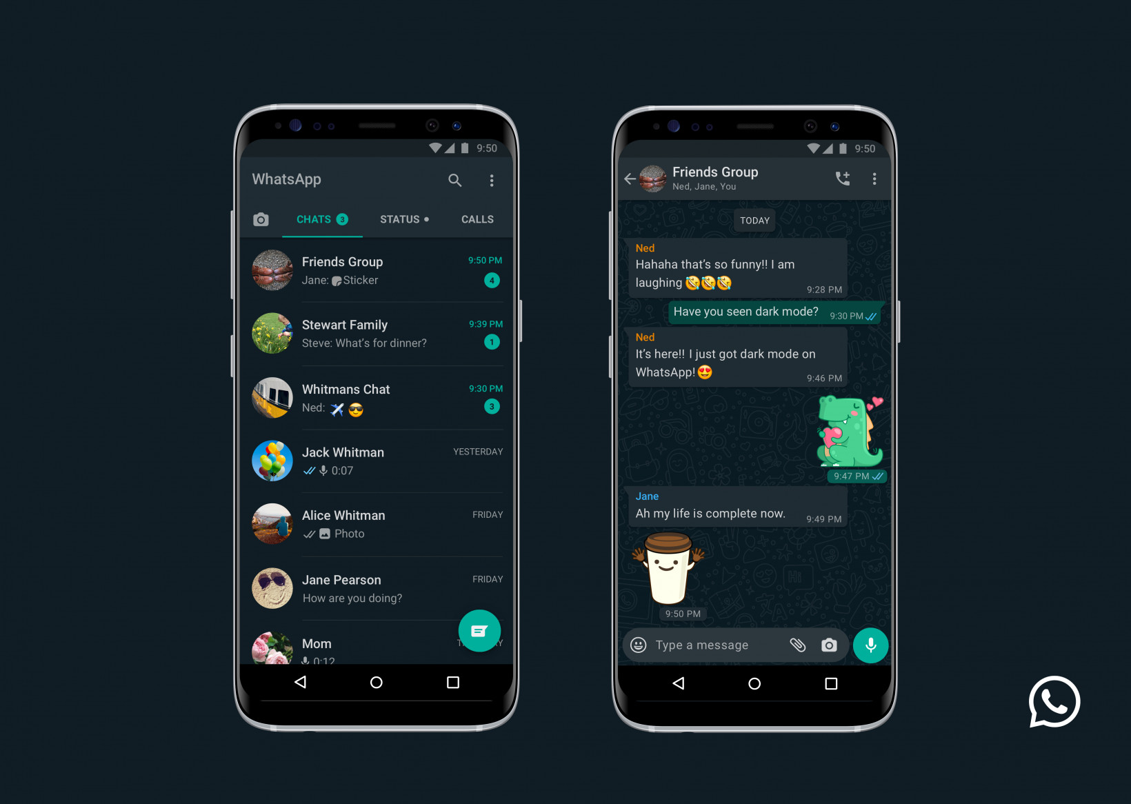 WhatsApp is activating  Dark Mode to all users 3