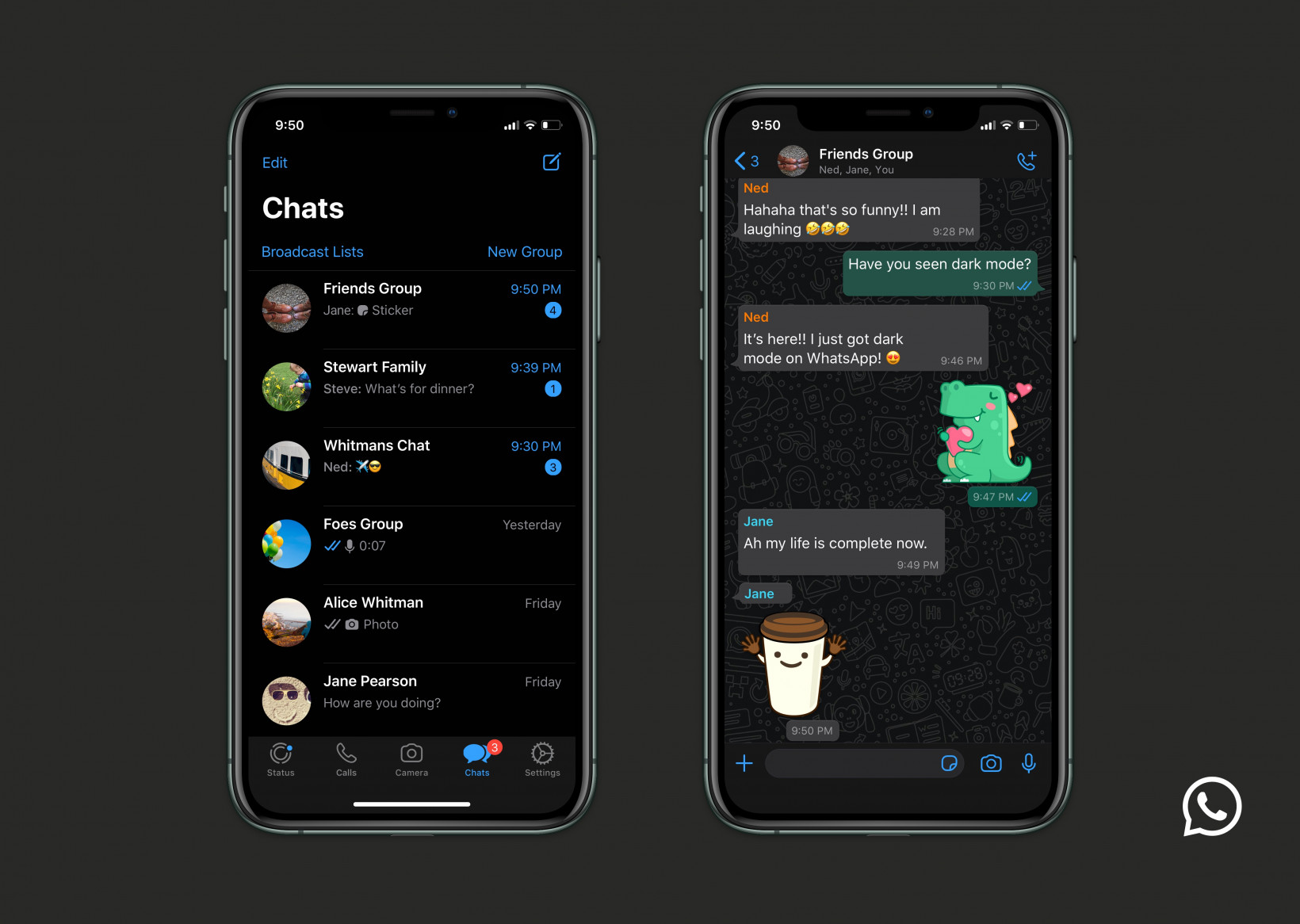 WhatsApp is activating  Dark Mode to all users 2