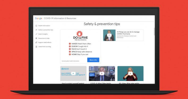 Google S Coronavirus Information Site Is Now Live