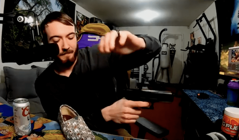 Twitch streamer cancelled for firing a gun into his monitor during livestream