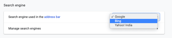 How to change default search engine on Google Chrome desktop