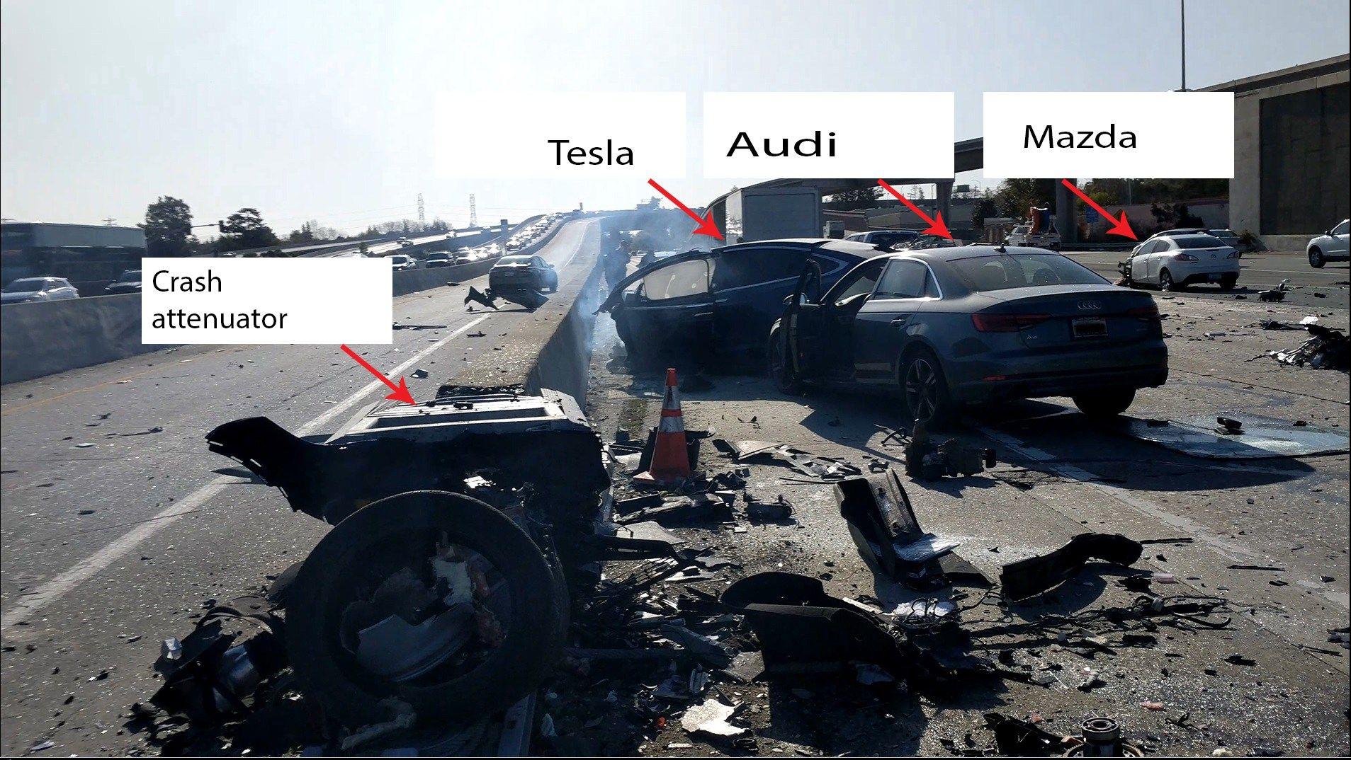 car, tesla, model x, crash, huang