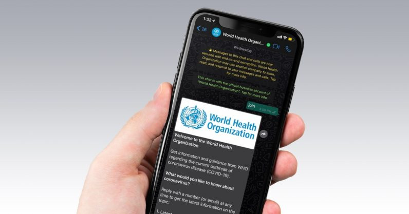 World Health Organization's WhatsApp bot texts you coronavirus facts