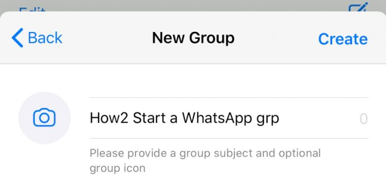 How to Start a WhatsApp group