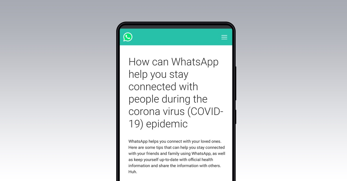 Image result for WhatsApp against coronavirus: WHO has an official bot with information