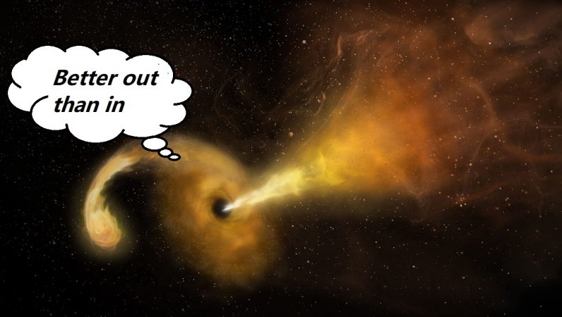 Scientists say supermassive black hole once belched a crater into a nearby galaxy