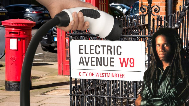 electric avenue, charging, street, siemens, ev, lamppost, infrastructure, electricity, car, vehicle