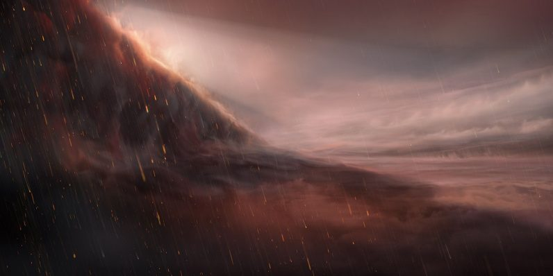Researchers discovered a planet that rains iron