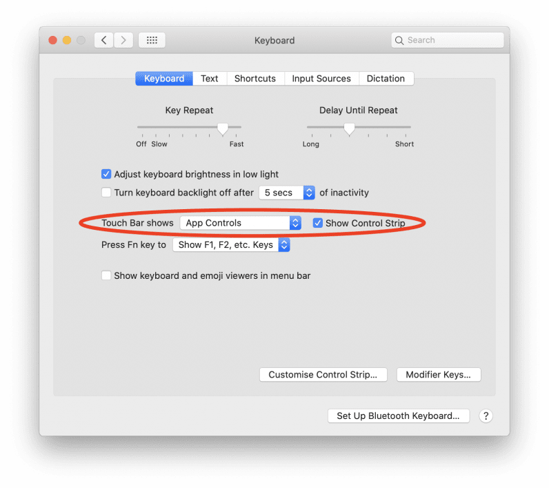 mac keyboard settings