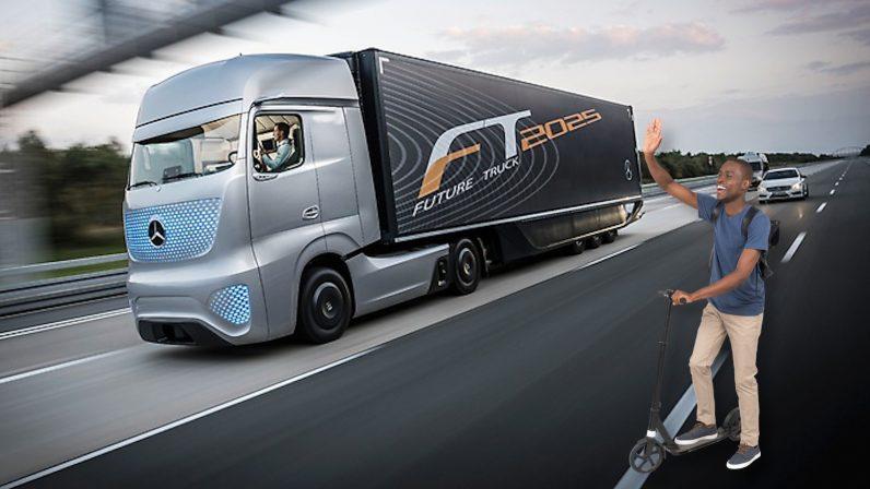 mercedes, self driving, truck, autonomous, daimler, cars, shfit