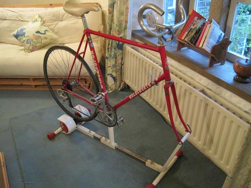 Old, bike, trainer, turbo