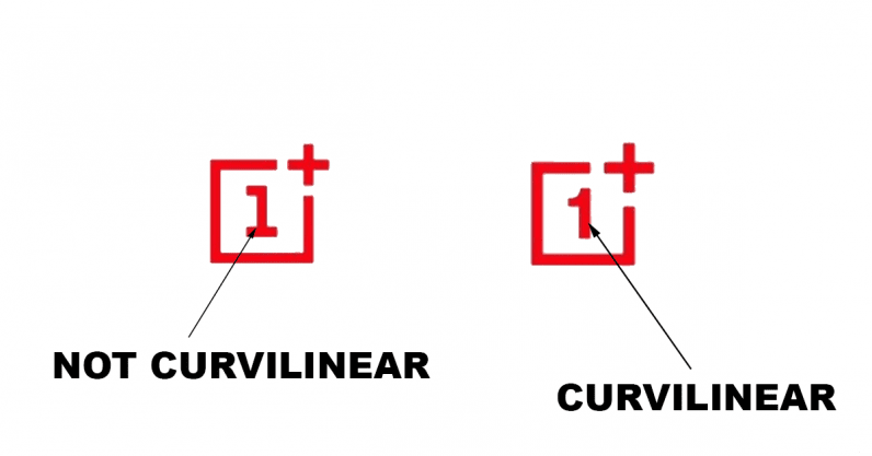 oneplus' new logo curvilinear