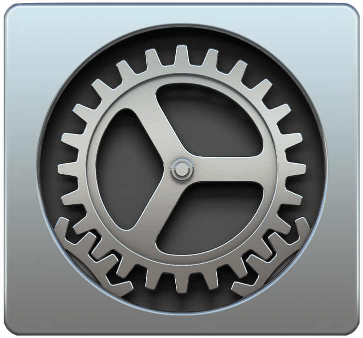 system preferences mac logo