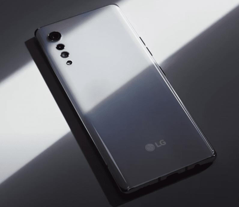 LG Velvet raindrop camera design