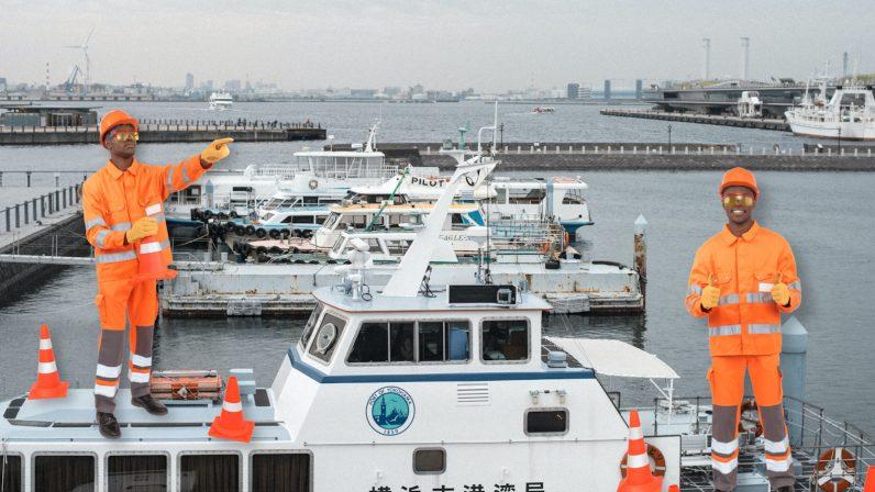 boats, fujtisu, japan, zinrei, ai, computer, port, shipping, boats, authority