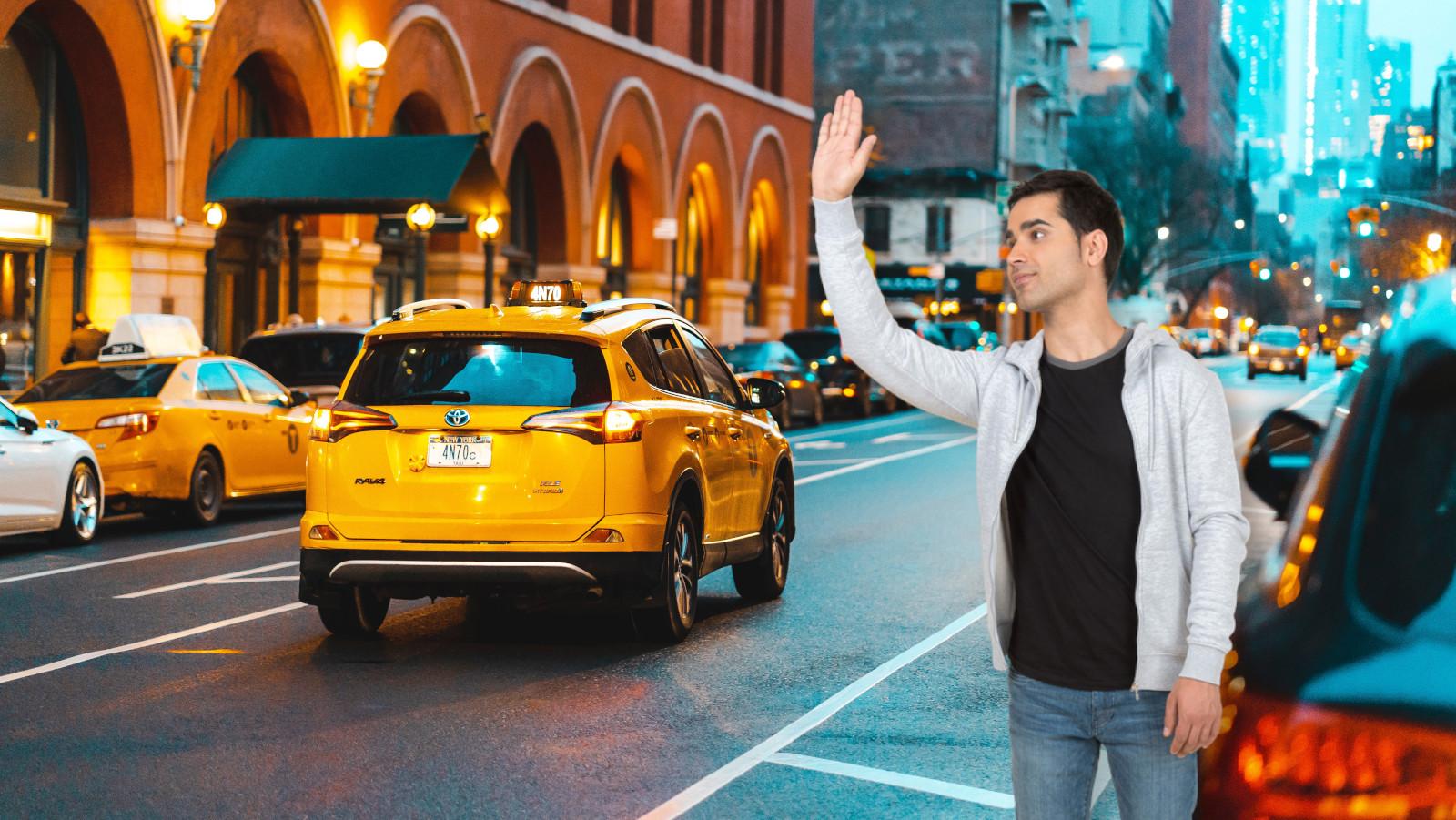 ride, hail, uber, lyft, taxi, new york, car, pickup, dropoff, crash, danger, car