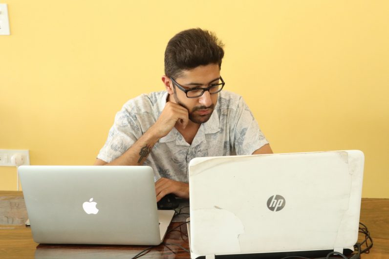 Many of India's IT employees are still working from offices amid coronavirus to keep the world ...