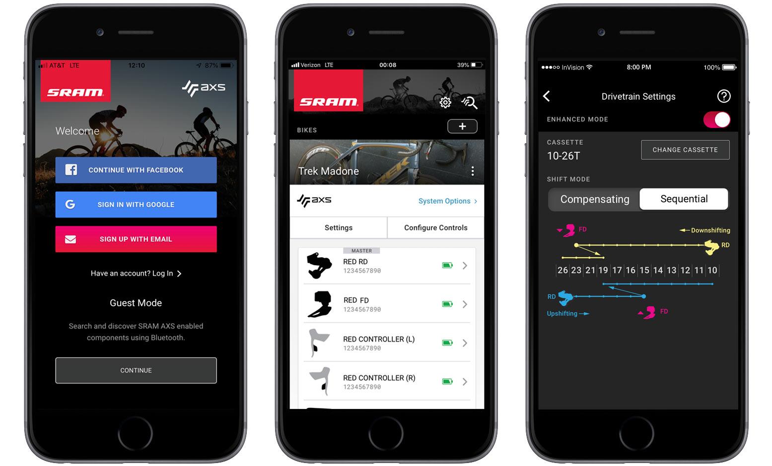 sram, axs, bike, app, configurator