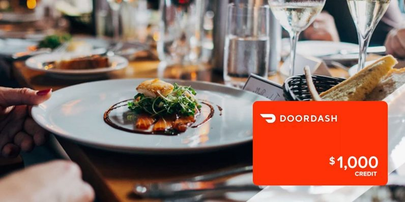 If you'd like $1,000 in DoorDash credit, we've got a little proposition for you.