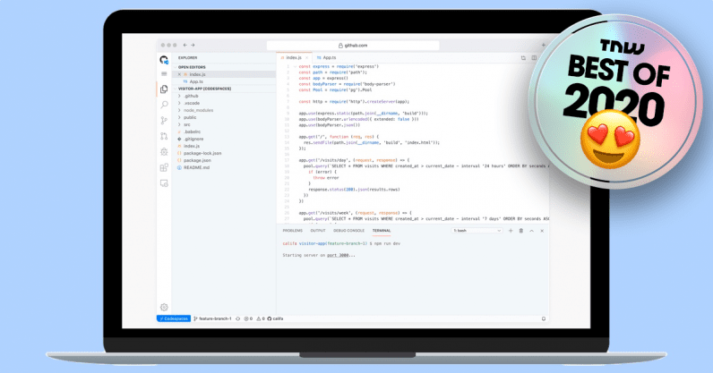 GitHub Codespaces lets you code in your browser without any setup