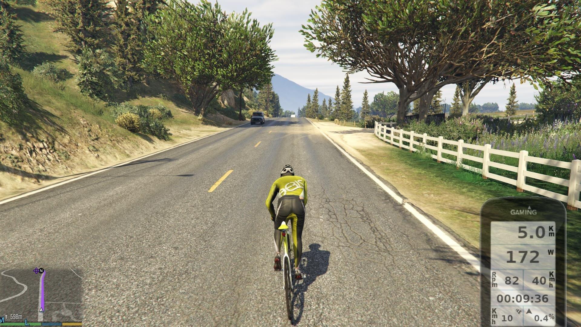 gta v, gaming, mod, cycling, zwift, virtual, indoors, training
