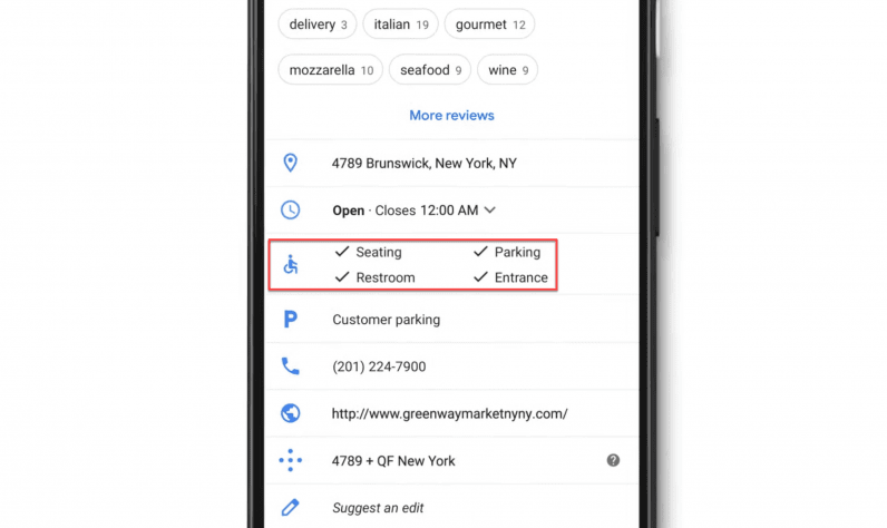 Google Maps can now highlight wheelchair-accessible businesses